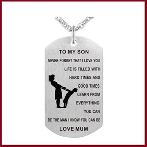 Mother/Son Stainless Steel Necklace